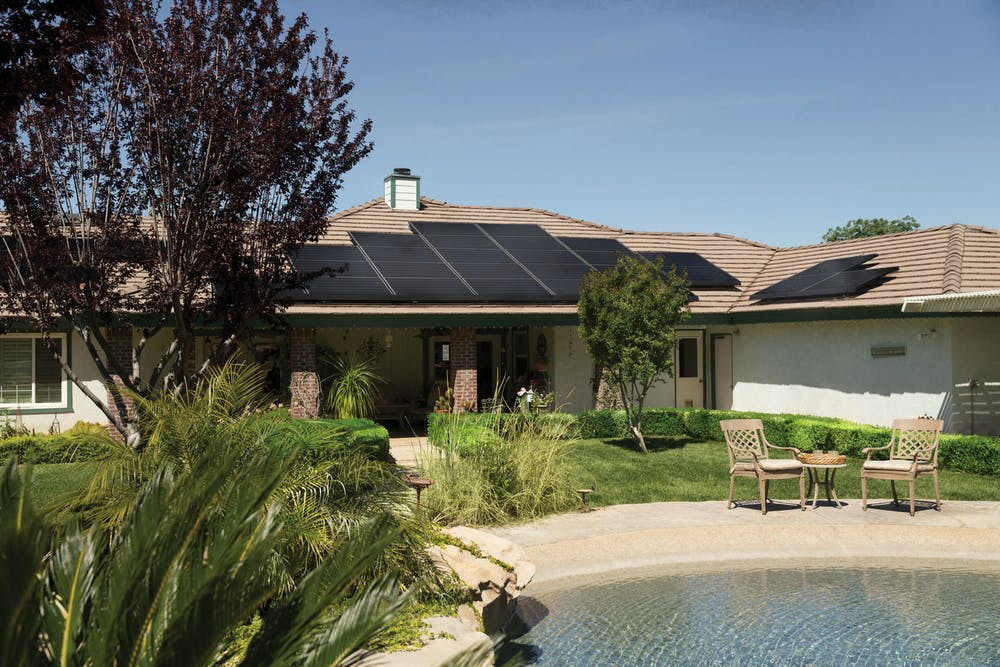 commercial solar in the roof of a home